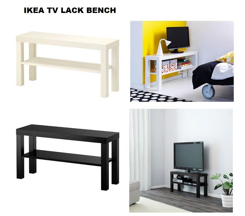 Ikea lack tv bench stand with shelf brand new 2 color for Mobiletti tv ikea