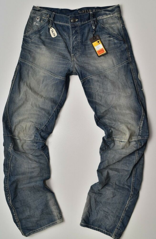 G Star Raw Motor 5620 3d Tapered Embro Jeans Lt Aged W29