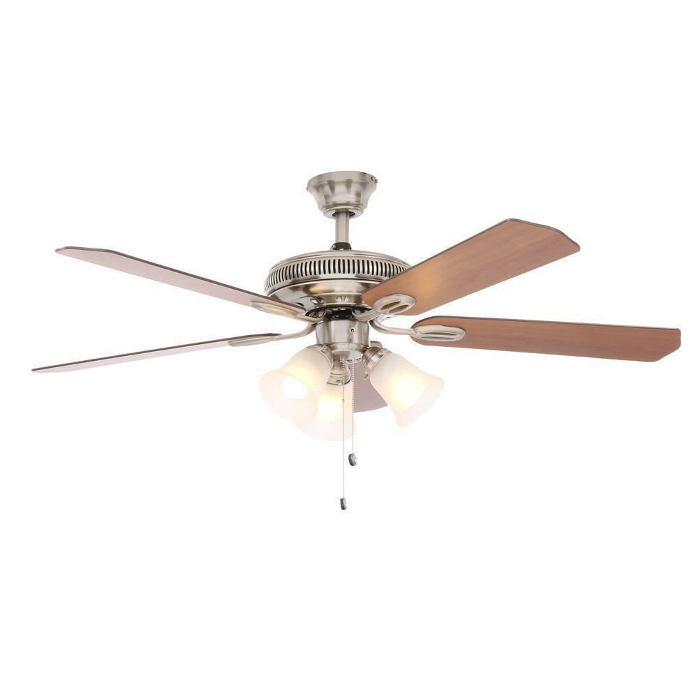 Hampton Bay Ceiling Fan Replacement Parts: Glendale 52 In. Brushed Nickel Ceiling Fan Replacement