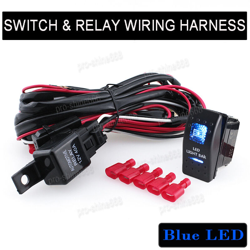 Universal Pin Car Dual LED LIGHT BAR Switch Toggle ONOFF Relay - Toggle on off relay
