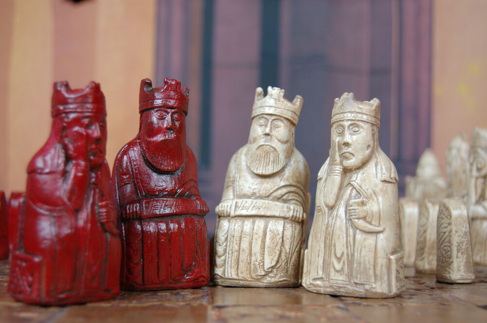 Isle Of Lewis Chess Set Customisable Colours Pieces Only