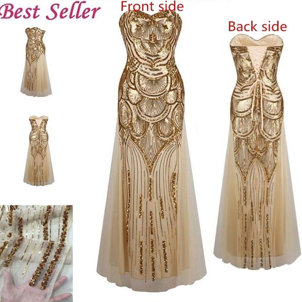 20s dress vintage art deco wedding 1920 39 s style dresses long gatsby costume prom ebay. Black Bedroom Furniture Sets. Home Design Ideas