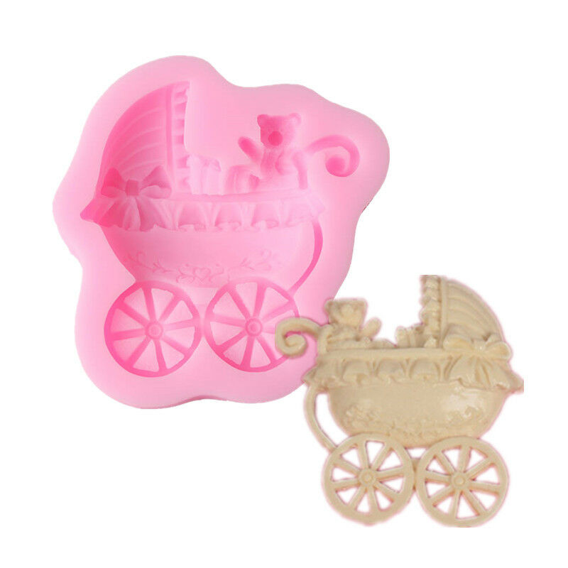 Cake Decorating Baby Carriage : Baby Carriage Polymer Clay Fondant Mold Flexible Silicone ...