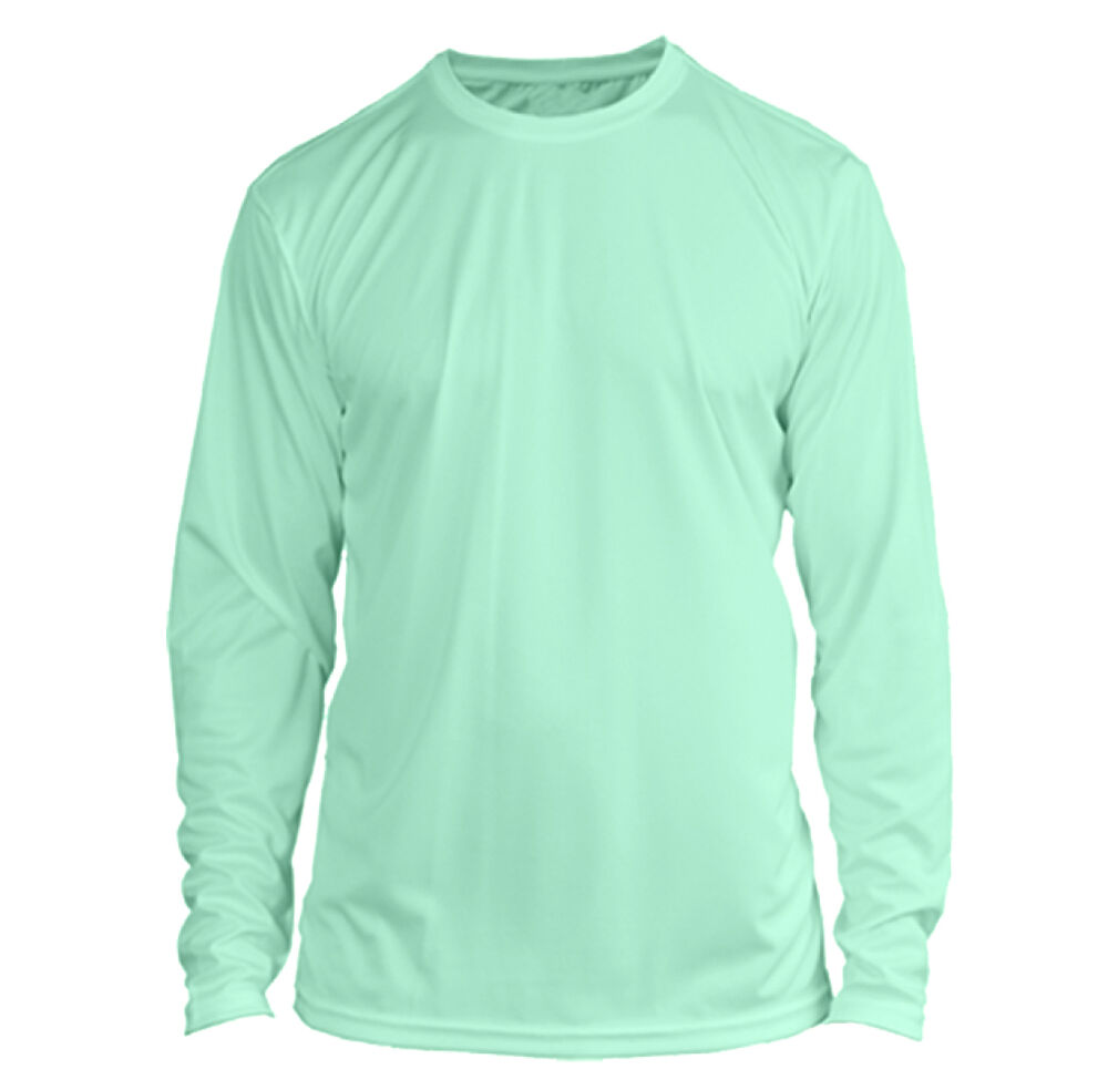 Microfiber long sleeve upf sun protection boating fishing for Spf shirts for fishing