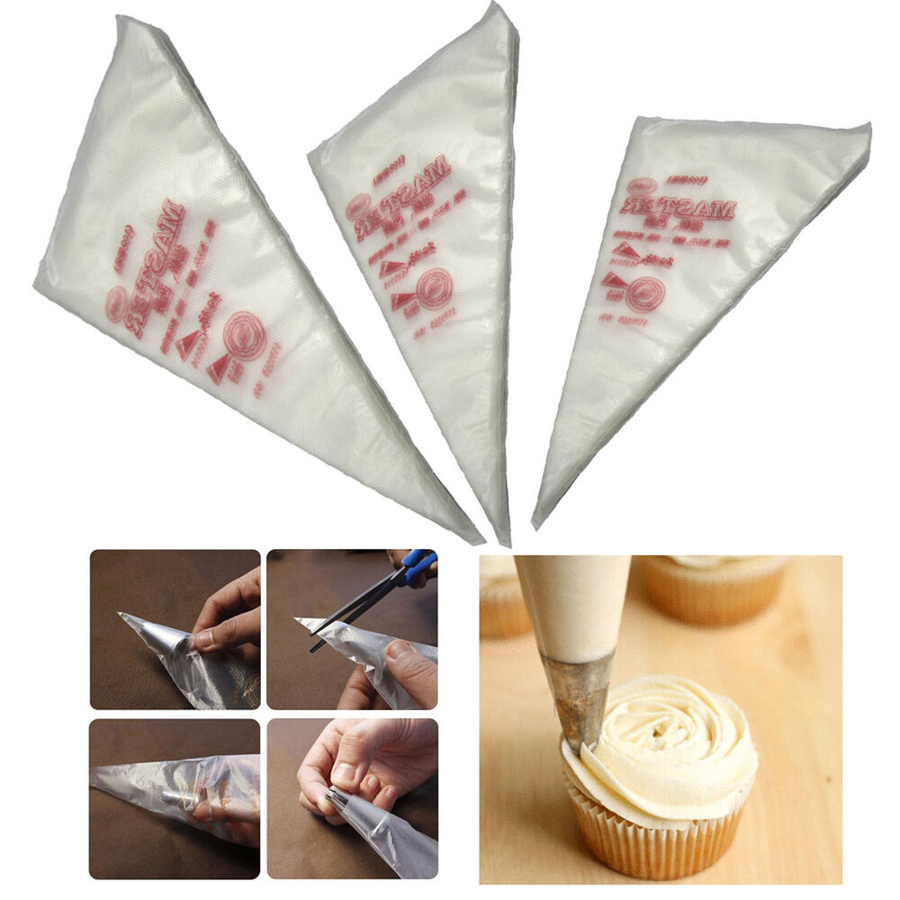 Best Cake Decorating Bags : 100pcs Disposable Cream Pastry Cake Icing Piping ...