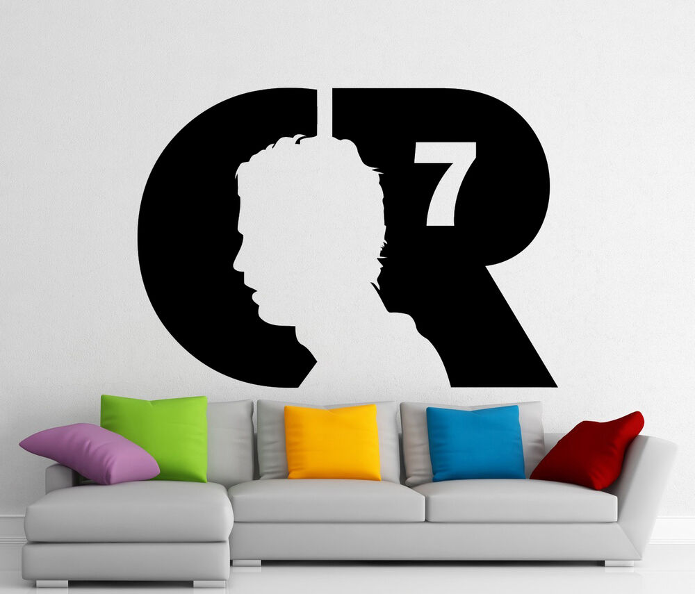 Cristiano ronaldo cr7 wall decal football vinyl sticker for Cristiano ronaldo wall mural
