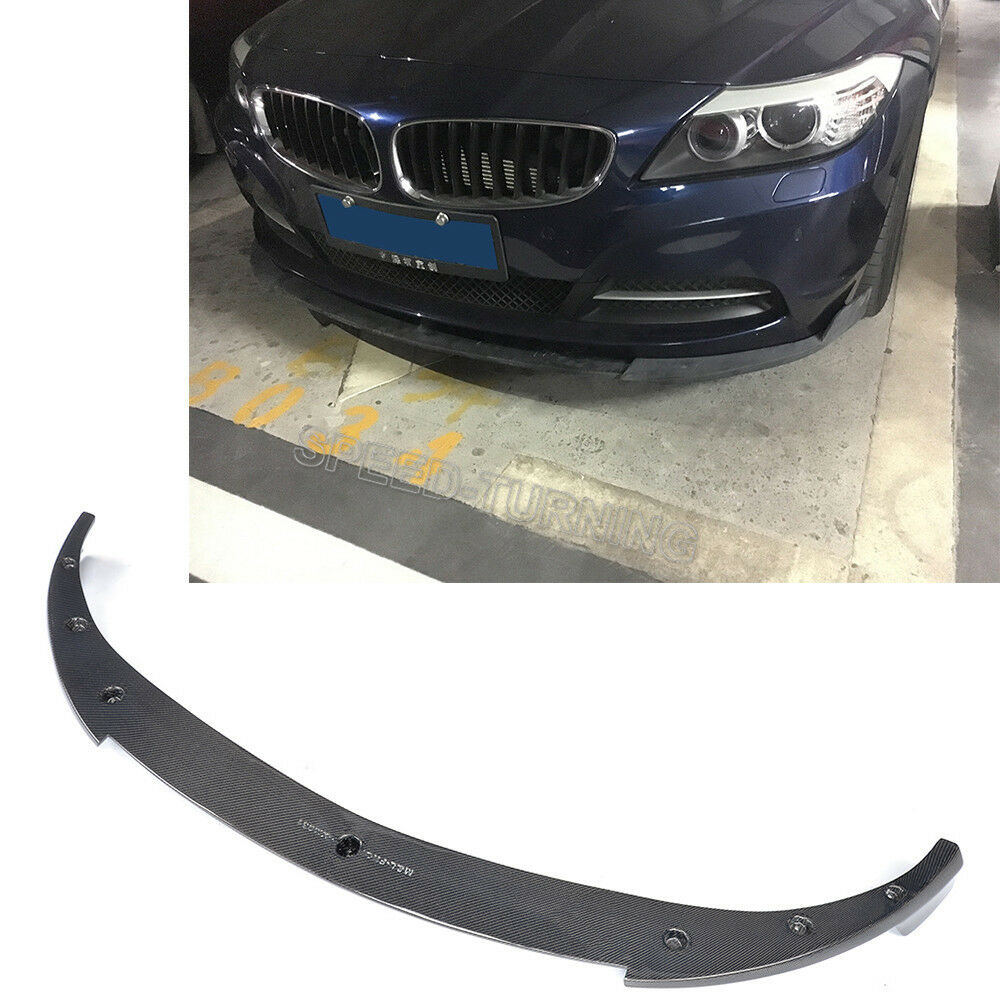 Bmw Z4 Splitter: Carbon Fiber Front Bumper Chin Lip Spoiler Fit For BMW Z4