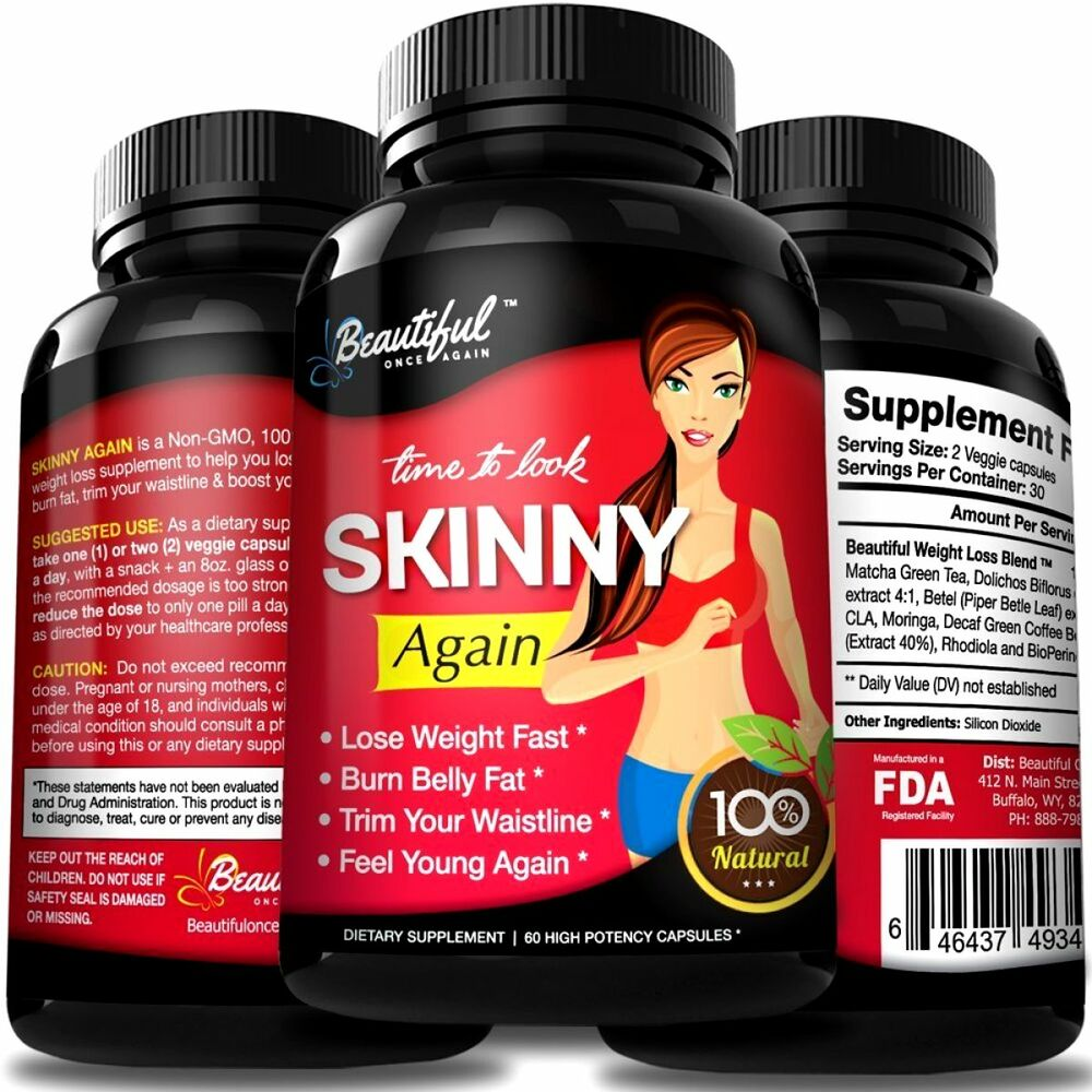 Diet Pills SKINNY AGAIN, Lose Belly Fat Fast 100 Natural ...