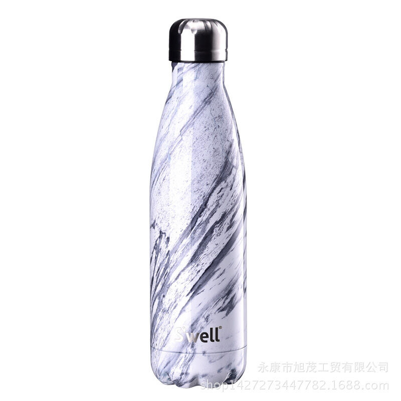 New Nib S Well White Marble 17oz Water Bottle Swell Ebay