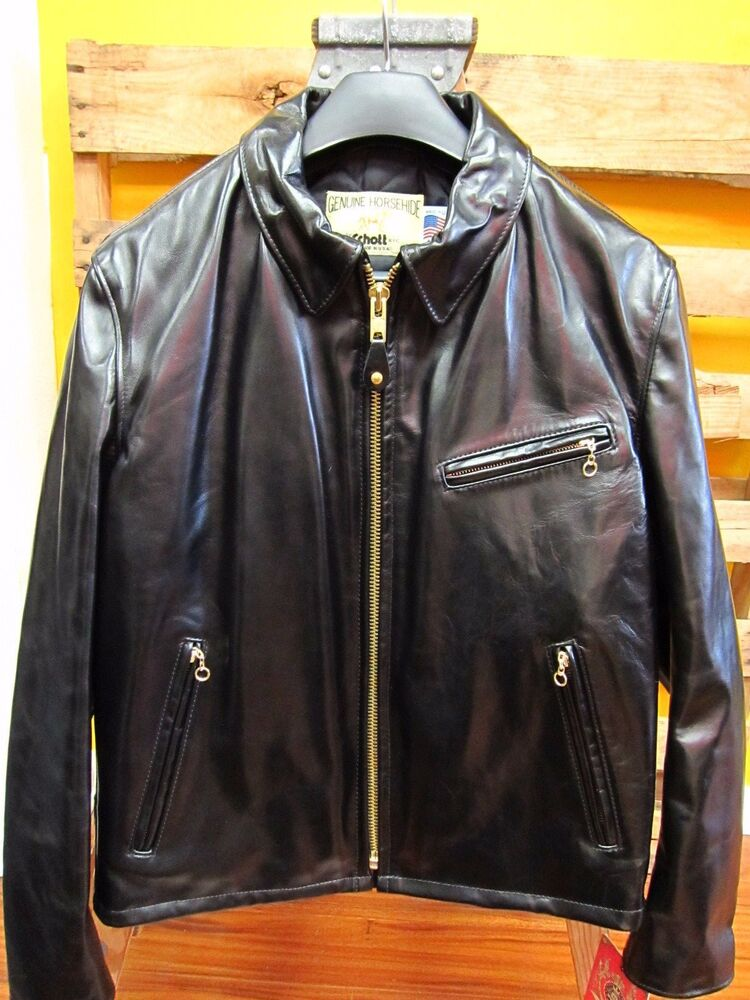 Leather motorcycle jacket made in usa