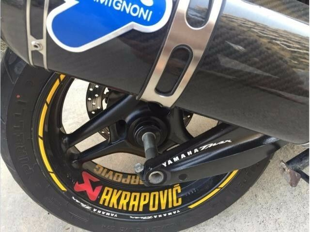 wheel sticker for yamaha tmax 530 akrapovic front rear wheel rim stripes decal ebay. Black Bedroom Furniture Sets. Home Design Ideas