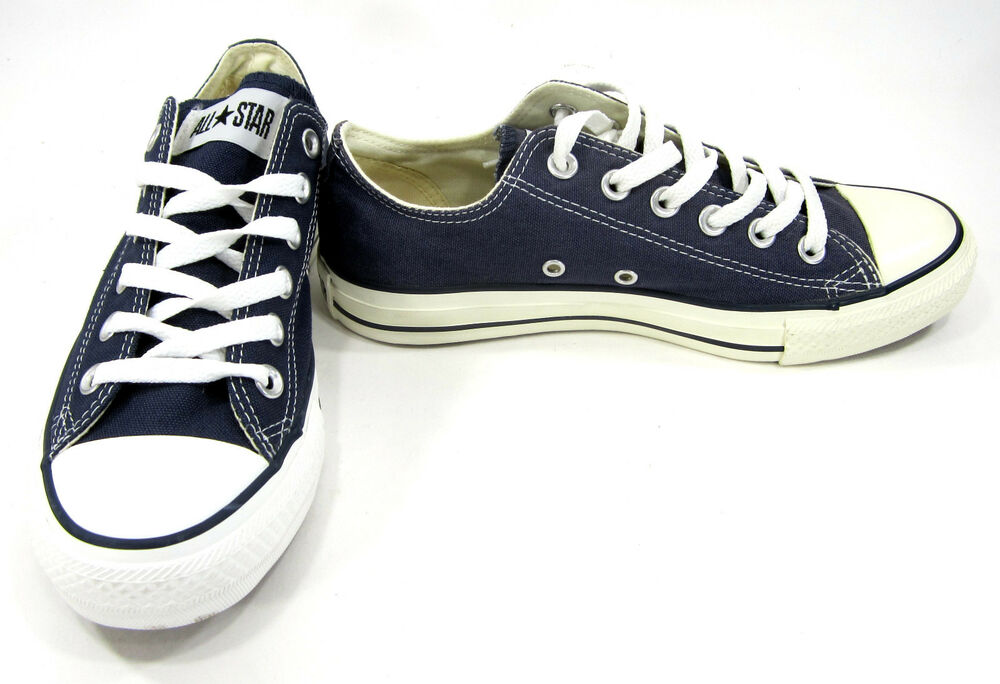 4948ada2f66d Details about Converse Shoes Chuck Taylor Ox All Star Navy Blue Sneakers  Men 5.5 Womens 7.5