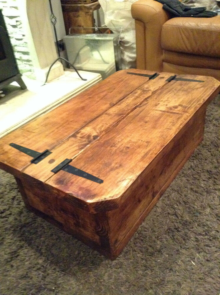 The Morbihan A Rustic Traditional Coffee Table With Storage Ebay