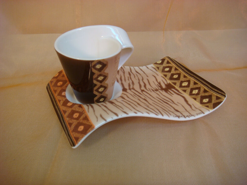 villeroy boch new wave caffe amboseli espresso cup plate limited edition 2007 ebay. Black Bedroom Furniture Sets. Home Design Ideas