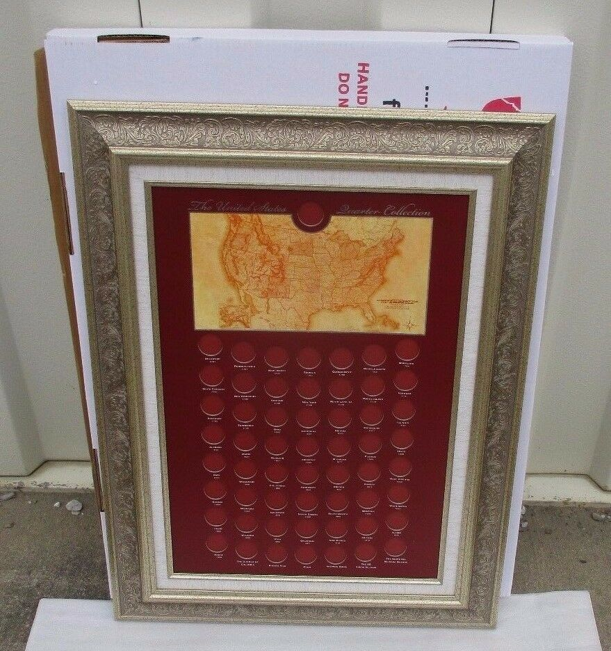 Coin Collection Display Frame Album United States State