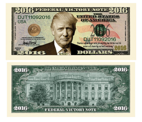 100 Donald Trump President Money Fake Dollar Bills 2016