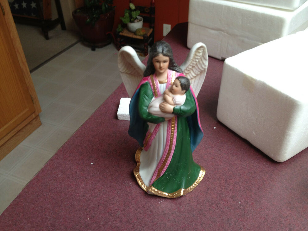 Homco Home Interior Angel With A Baby Porcelain Figurine