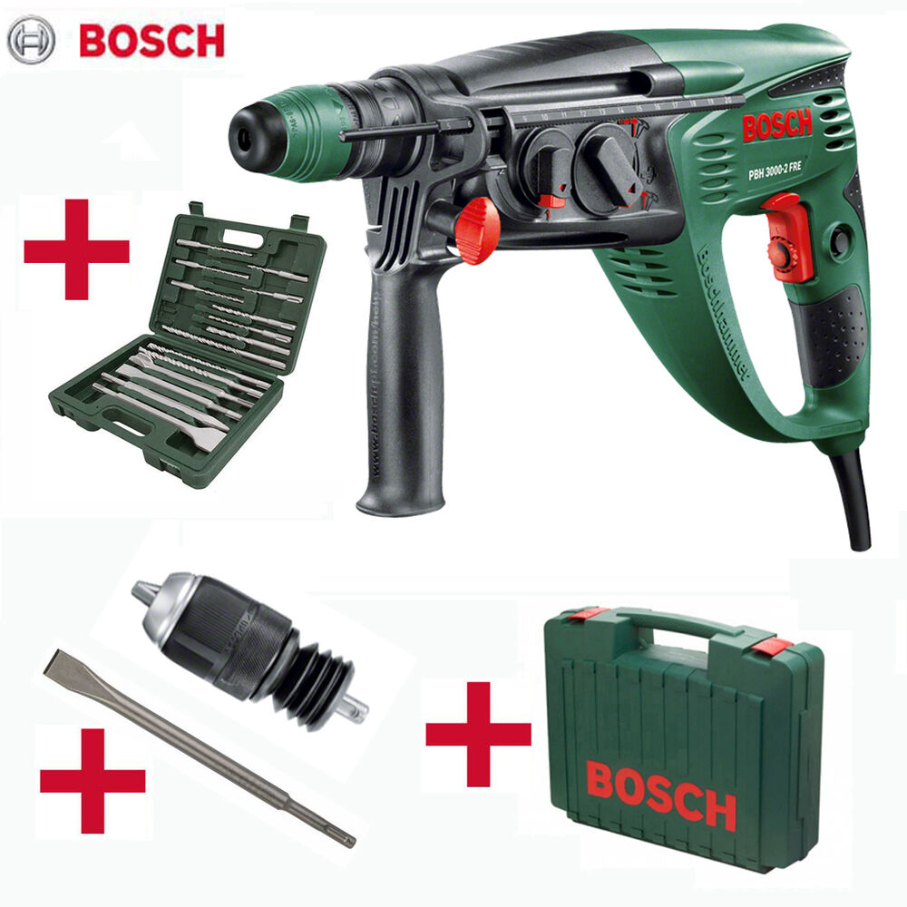 bosch bohrhammer pbh 3000 2 fre hammer mei elhammer sds bohrer mei el koffer ebay. Black Bedroom Furniture Sets. Home Design Ideas