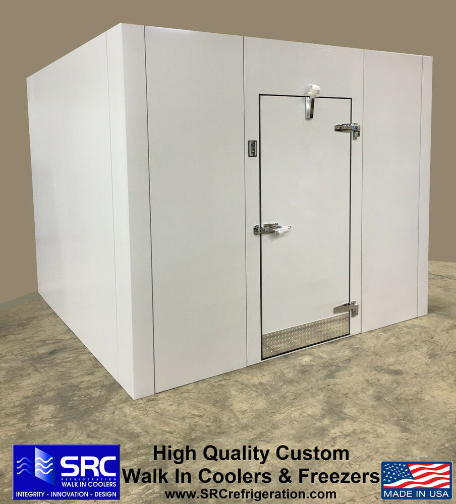 New walk in storage cooler custom with refrigeration white for Walk in freezer motor