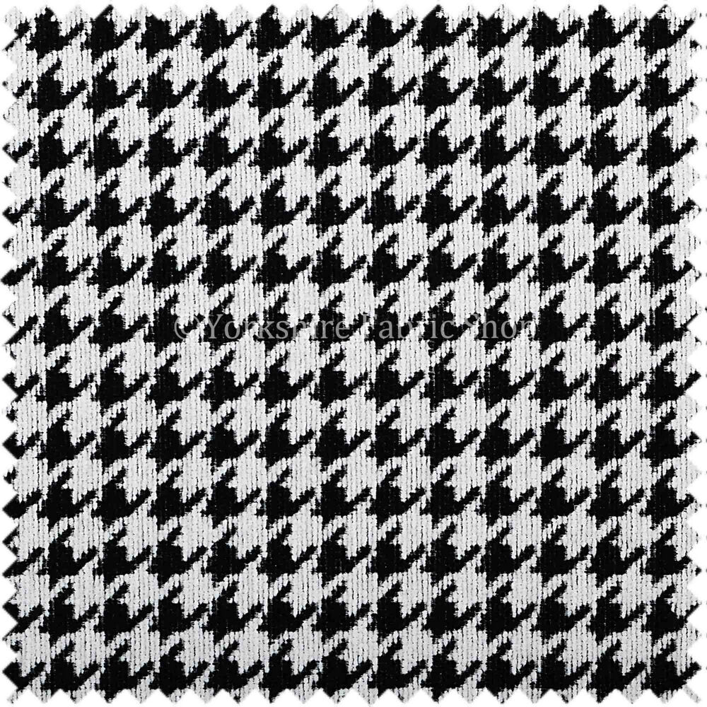 schwarz wei kariert stilvoller houndstooth muster weich gewebt made polster ebay. Black Bedroom Furniture Sets. Home Design Ideas