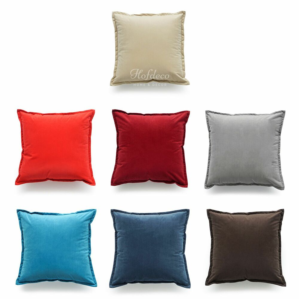 Couch Pillows: Hofdeco Solid Classic Throw Pillow Cover Luxury Comfy Sofa
