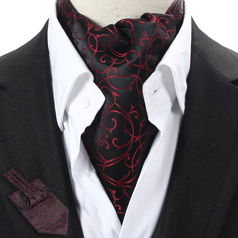 Amazing beautiful ascot tie in shades of black and red paisley. Ascot Men's Silk Neck Tie - Blue, Black, Red & Silver Stripes. $ Buy It Now. or Best Offer. The item in the picture is the item you will receive. No exceptions. Tile Silk Printed Ascot (SPA) $ Buy It Now. Free Shipping.