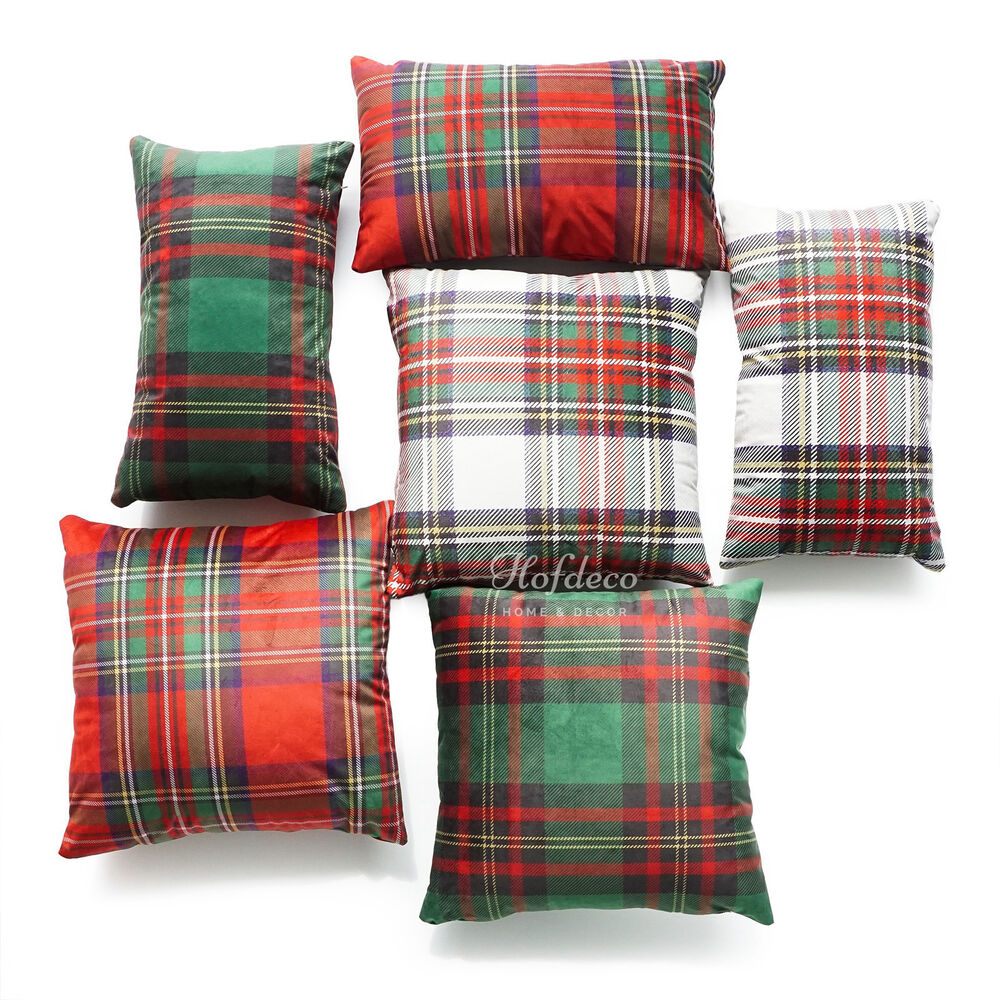Hofdeco Throw Pillow Case Royal Stewart Classic Plaid