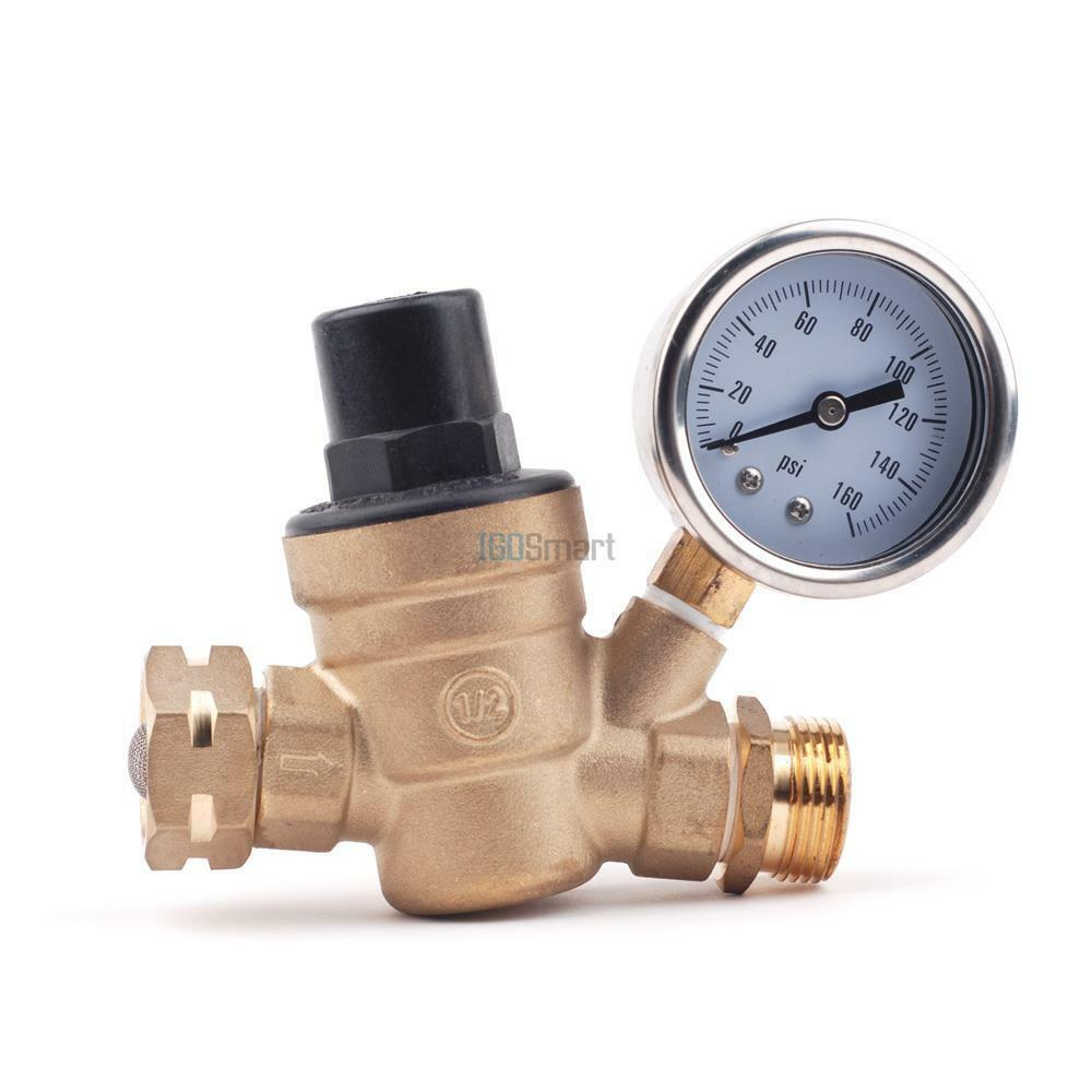 brass lead free adjustable water pressure regulator reducer npt npt 3 4 160 psi ebay. Black Bedroom Furniture Sets. Home Design Ideas