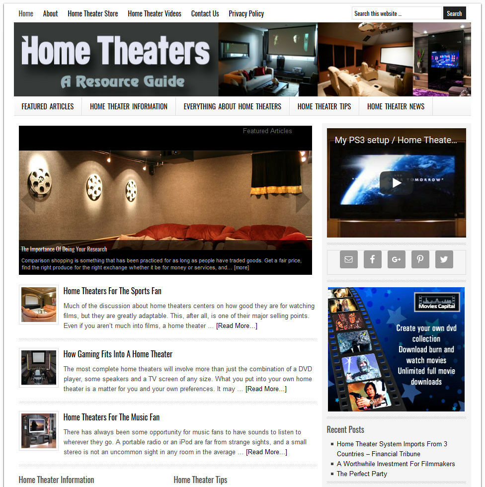 Home Theater Buying Tips: * HOME THEATER GUIDE * Niche Website Business For Sale W