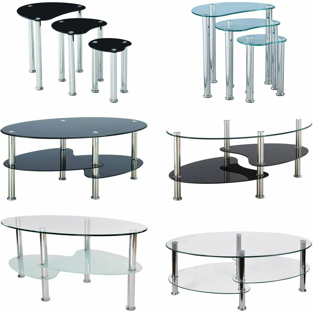 Glass Top Coffee Tables: Cara Furniture Range Coffee Table Nest Of 3 Tables Glass
