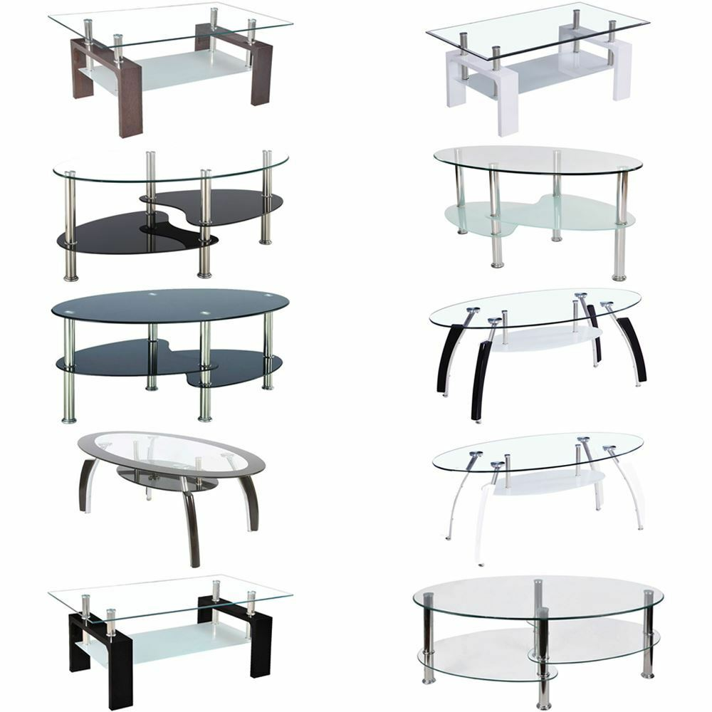 Coffee Tables Cara Elena Elise Glass Top Stainless Steel