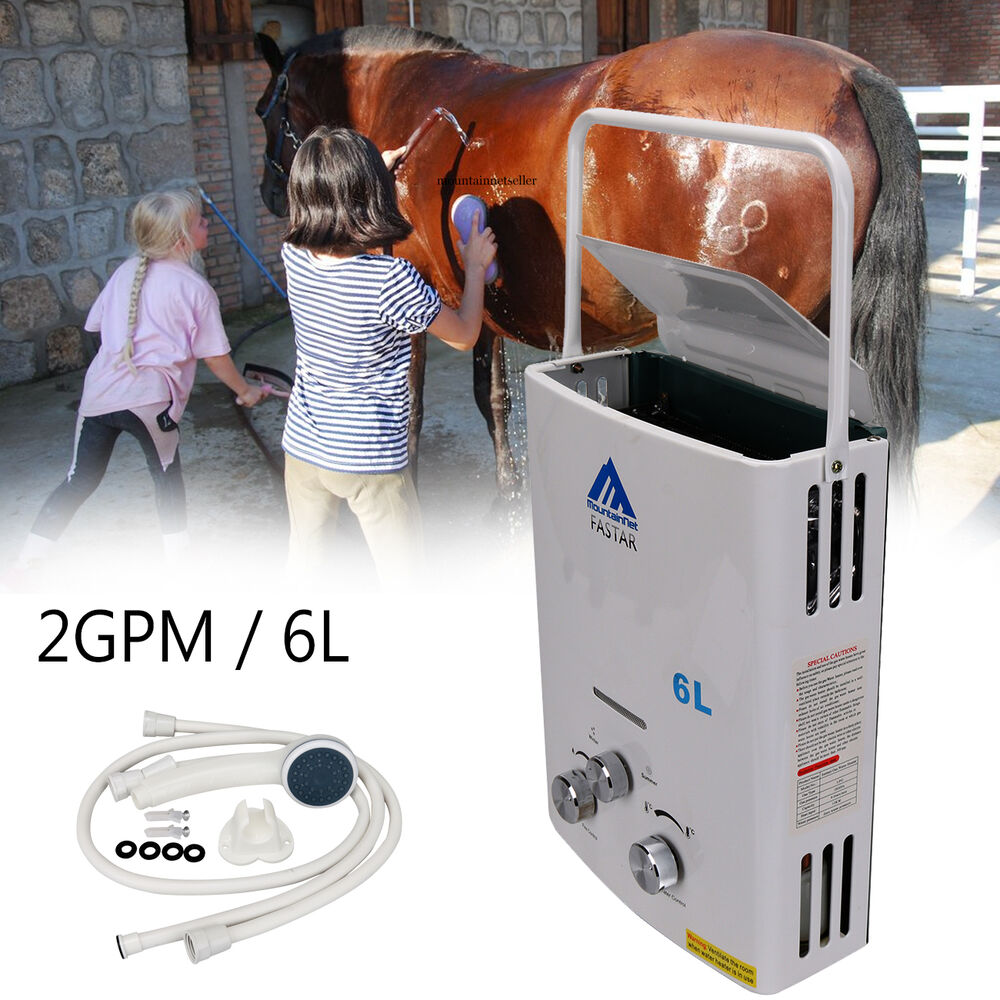 Rv Tankless Hot Water Heater : Tankless hot water heater rv camper horse pet portable