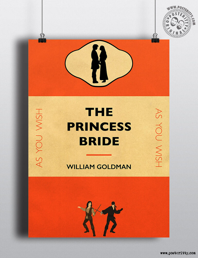 Minimalist Book Cover Prints : The princess bride book cover minimalist movie poster