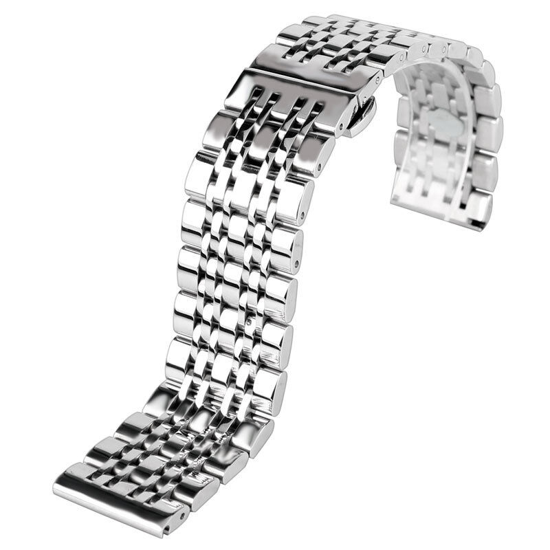 86f763d3c57 Details about 20 22mm Luxury Stainless Steel Watch Band Strap Solid Bracelet  Men Adjustable