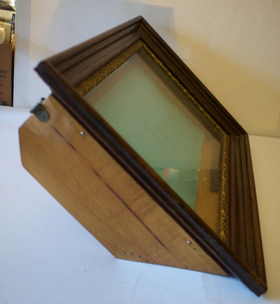 Antique large deep wood glass shadow box picture frame for How to make a large picture frame