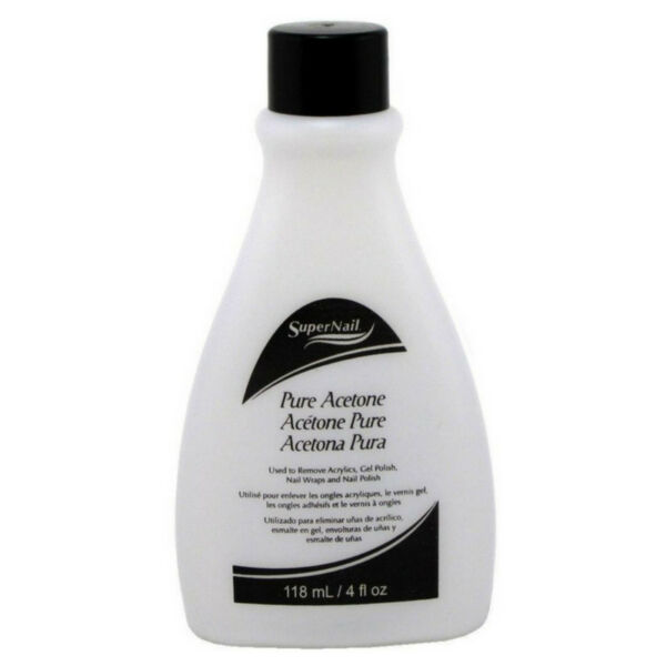 Super Nail Pure Acetone Polish Remover, 4 oz
