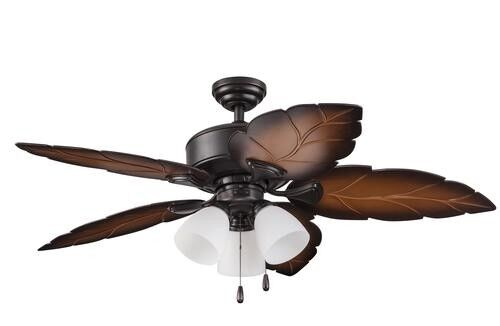 New 52 Quot 3 Light Tropical Wet Rated Outdoor Ceiling Fan