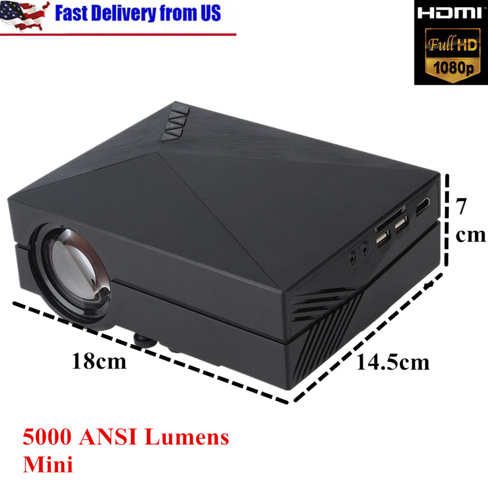 5000 lumens hd led video projector home cinema 3d effect for Hd video projector
