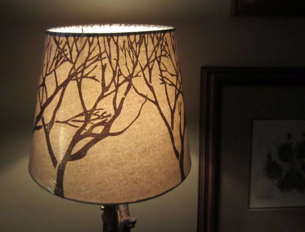 Rustic Cabin Lamp Shades Tree Branch Twig Pattern