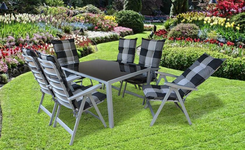 gartenm bel set garten sitzgruppe gartengarnitur lounge gruppe wetterfest pisa ebay. Black Bedroom Furniture Sets. Home Design Ideas