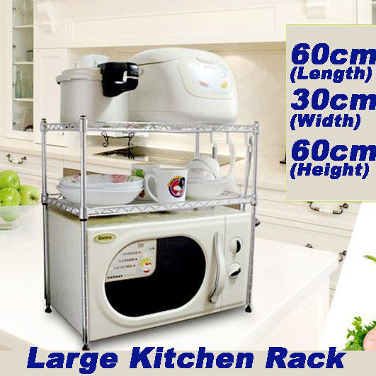 Stainless steel kitchen dish drying rack microwave shelf stand drainer sink hold ebay - Kitchen sink drying rack ...