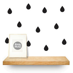 Raindrop Wall Stickers  Available in 2 sizes 15 Colours: UK seller - Free P&P