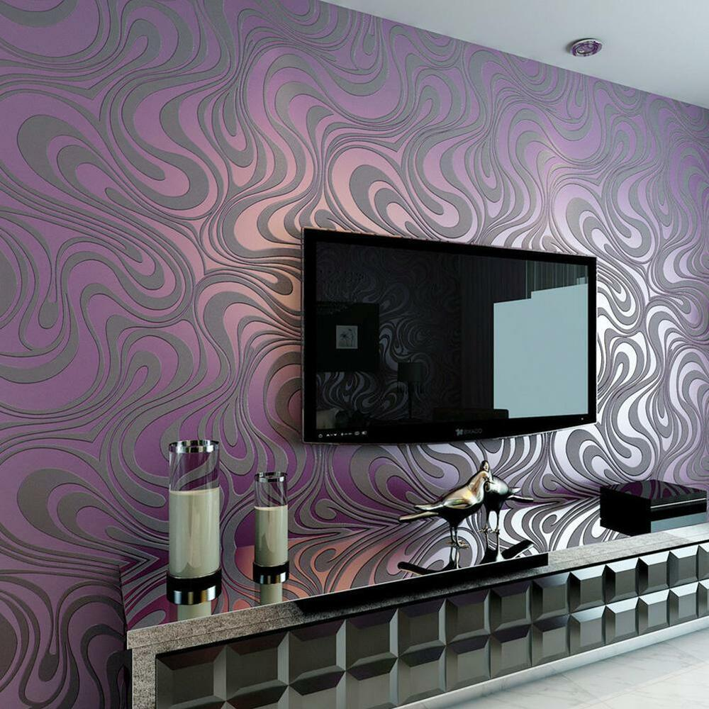 3d wallpaper modern luxury abstract curve roll mural for 3d wallpaper for walls ebay