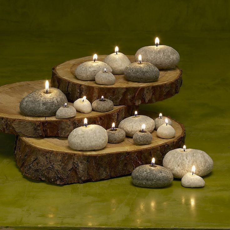how to make pebble candles