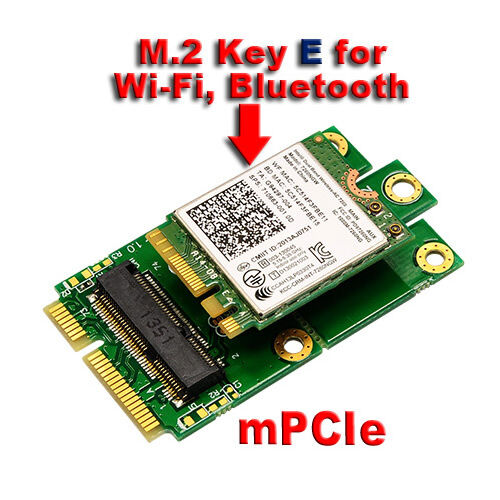 M 2 Pcie Adapter Pakistan Adapter Nikon To Sony E Mount Wifi Adapter Gone From Laptop Adapter Adapter Meaning: M.2 (NGFF) KEY E To MPCIe (PCIe+USB) Mini PCIE Adapter