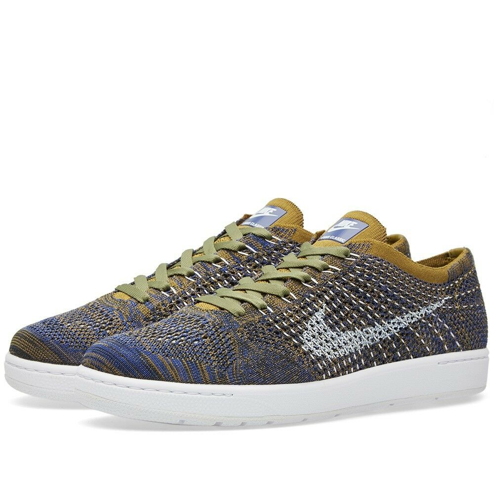 lowest price 6cf6d 895e9 Details about Nike W Tennis Classic Ultra Flyknit Shoes Womens SZ 7 Olive  Blue 833860 301