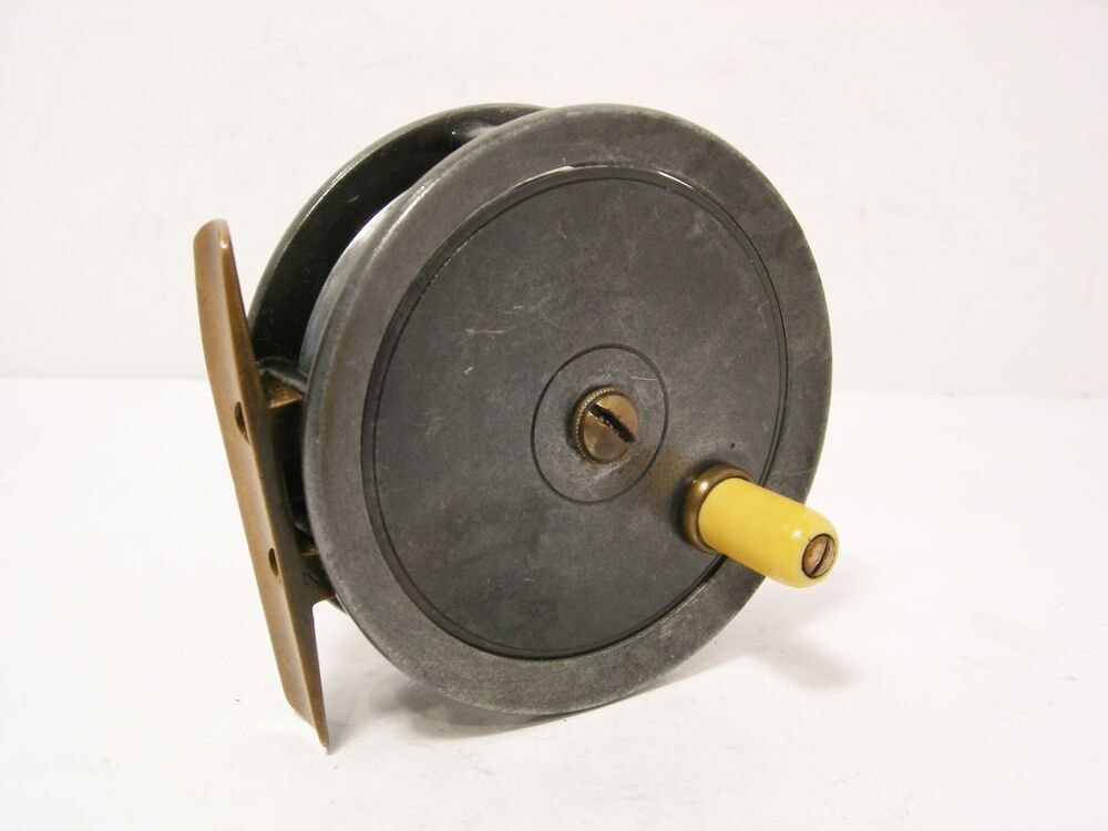 Vintage antique alloy dingley 3 trout fly fishing reel for Ebay fishing reels