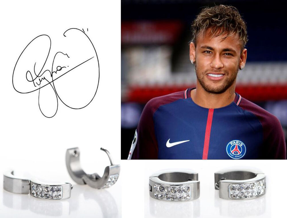 neymar earrings s boy s neymar 18ct white gold plate 9565