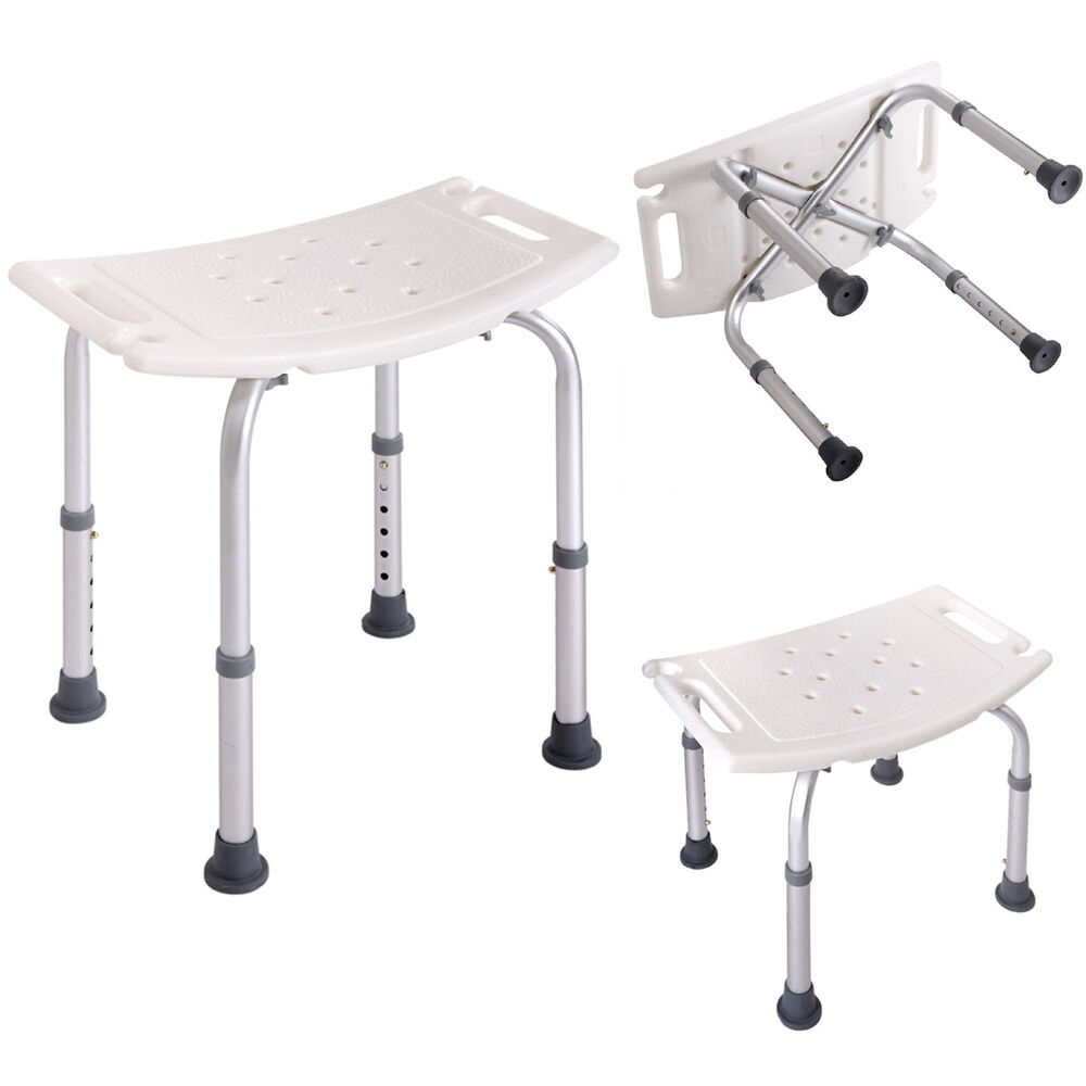 Bath Shower Chair Adjustable Medical 6 Height Bench