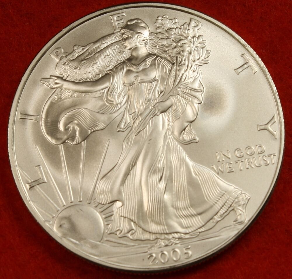 2005 American Silver Eagle Dollar 1 Oz 999 Bu Great